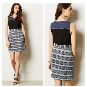 Anthropologie Moulinette Souers Dress Blue Tweed 8